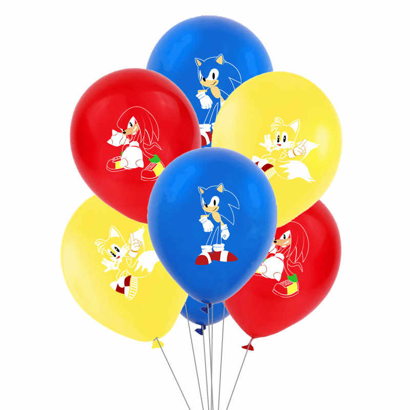 Nieuwe 10Pcs Sonic Latex Ballonnen De Egel Superhero Game Fans Ballon Happy Brithday Party Decoraties Kids Speelgoed Levert Globos