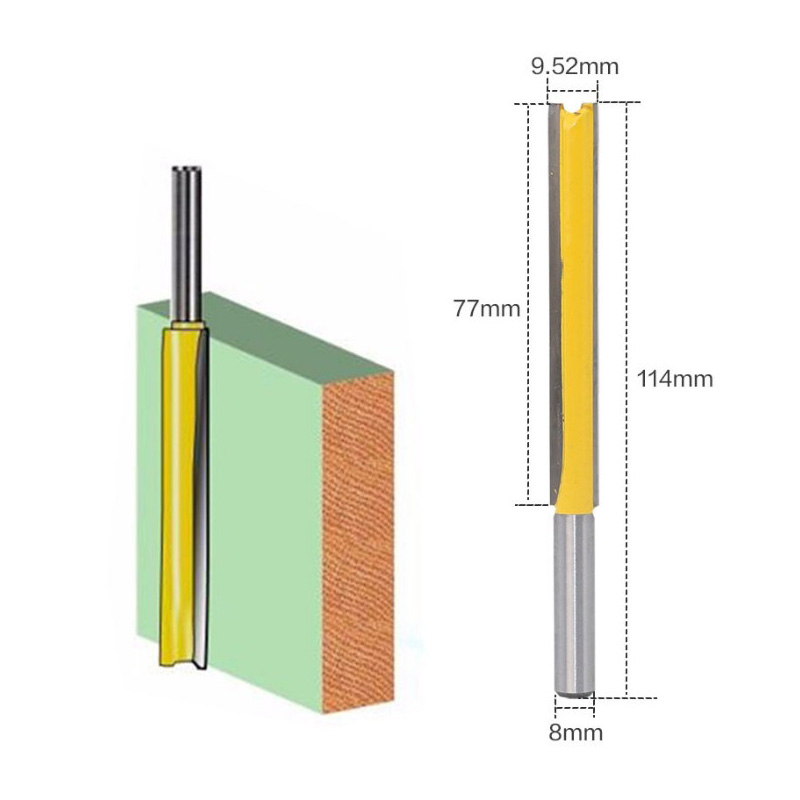 Krachtige 8mm Shank Up To 77mm Extra Long Flush Trim Router Bit