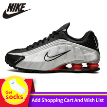 Nike Shox R4 Men Running Shoes Air Max Tn Air Cushion Outdoor Sports
