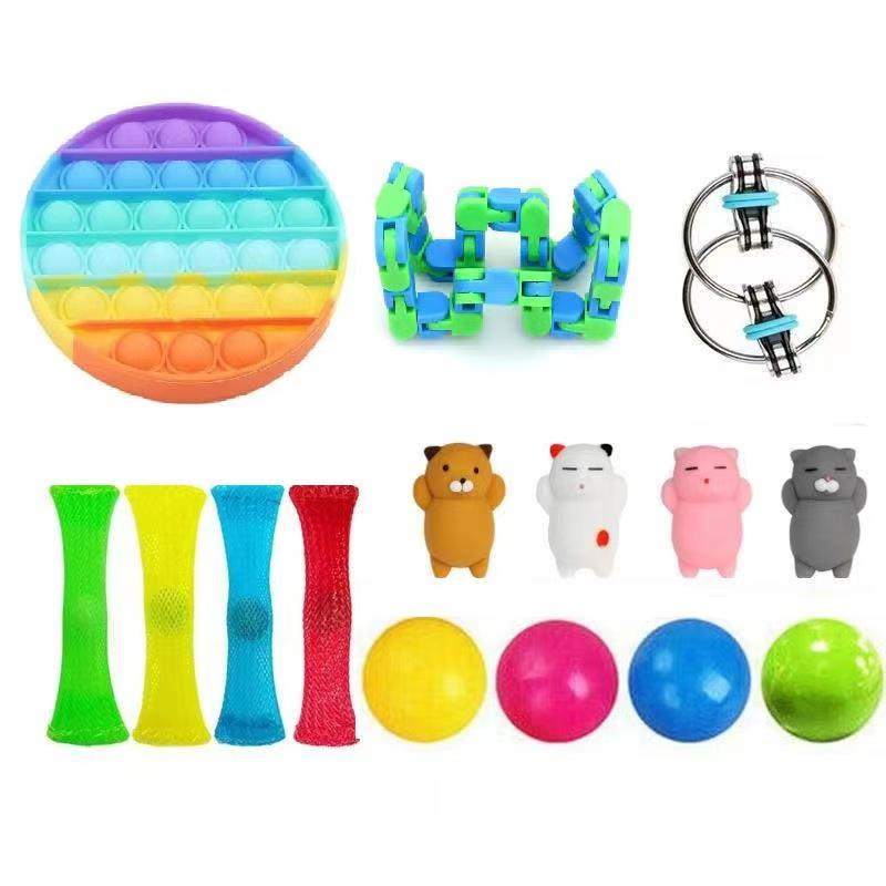 Fidget-Toy-Set Decompression Anxiety Relief Stress-Toy Sensory Adult for Kids img2