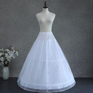 Image 3 - Women White Wedding Petticoat 2 Hoop Double Layer Bridal Crinolines with Tulle Netting Underskirt Half Slips for Ball Gown Dress