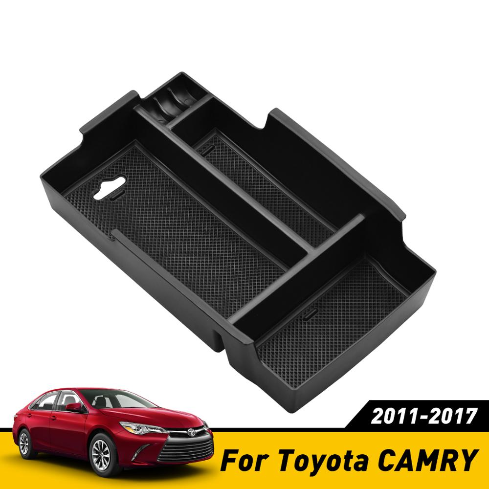 For Toyota Camry 2012-2017 Center Console Armrest Storage Box Organizer Tray