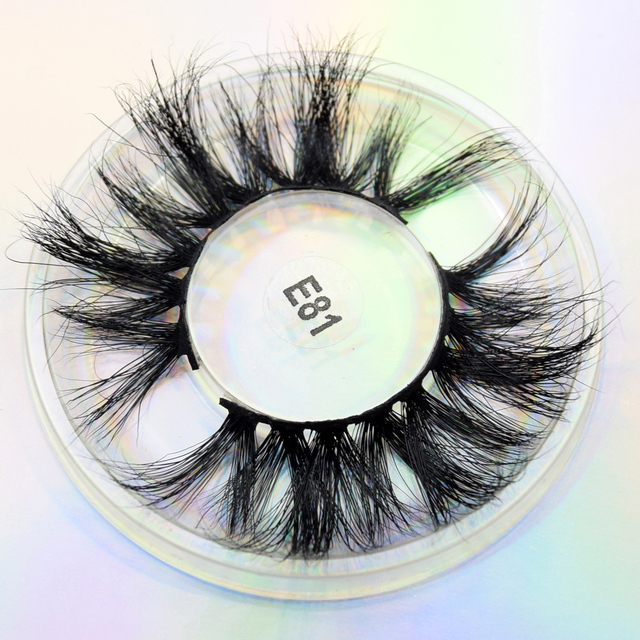 visofree 25 mm Mink Eyelashes Dramatic Long Mink Lashes Makeup Full Strip Lashes 25mm False Eyelashes 3D Mink Eyelashes Reusable 4
