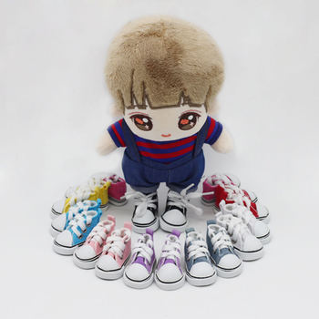 5cm Canvas Mini Toy Shoes for 1/6 BJD Doll Fashion Handmade Sneakers Baby Clothes Accessories