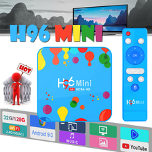 Android 9.0 2.4G/5G Wifi h96 mini Bluetooth 4.0 smart tv box H6 4k Full HD Media speler IPTV max Set-Top Box