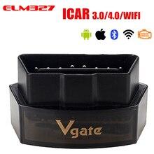 Vgate iCar Pro Bluetooth 4.0/3.0/WIFI OBD 2 skaner dla androida/IOS Auto Elm 327 OBD narzędzie diagnostyczne do samochodów ELM327 V2.1 czytnik kodów