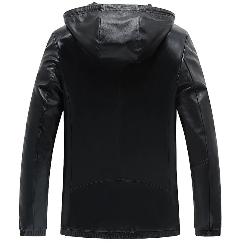 100%Real Sheepskin Coat Genuine Leather Jacket Short Slim Jacket For Men Outerwear Jaqueta De Couro YXG1669A MF041