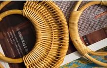 Rozmiar 16 Cm cztery sztuk na każdą część bambusa Ratten trzciny cukrowej torebka uchwyt moda uchwyt Diy akcesoria hurtownia zamiennik Ratten uchwyt tanie tanio Maxis Opia Metal metal purse handle Frame