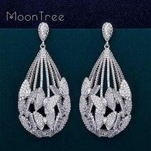 MoonTree boucles doreilles de luxe, papillon, bijoux en zircone cubique, goutte deau AAA, dubaï, fête de mariage, fiançailles, mode pour femmes