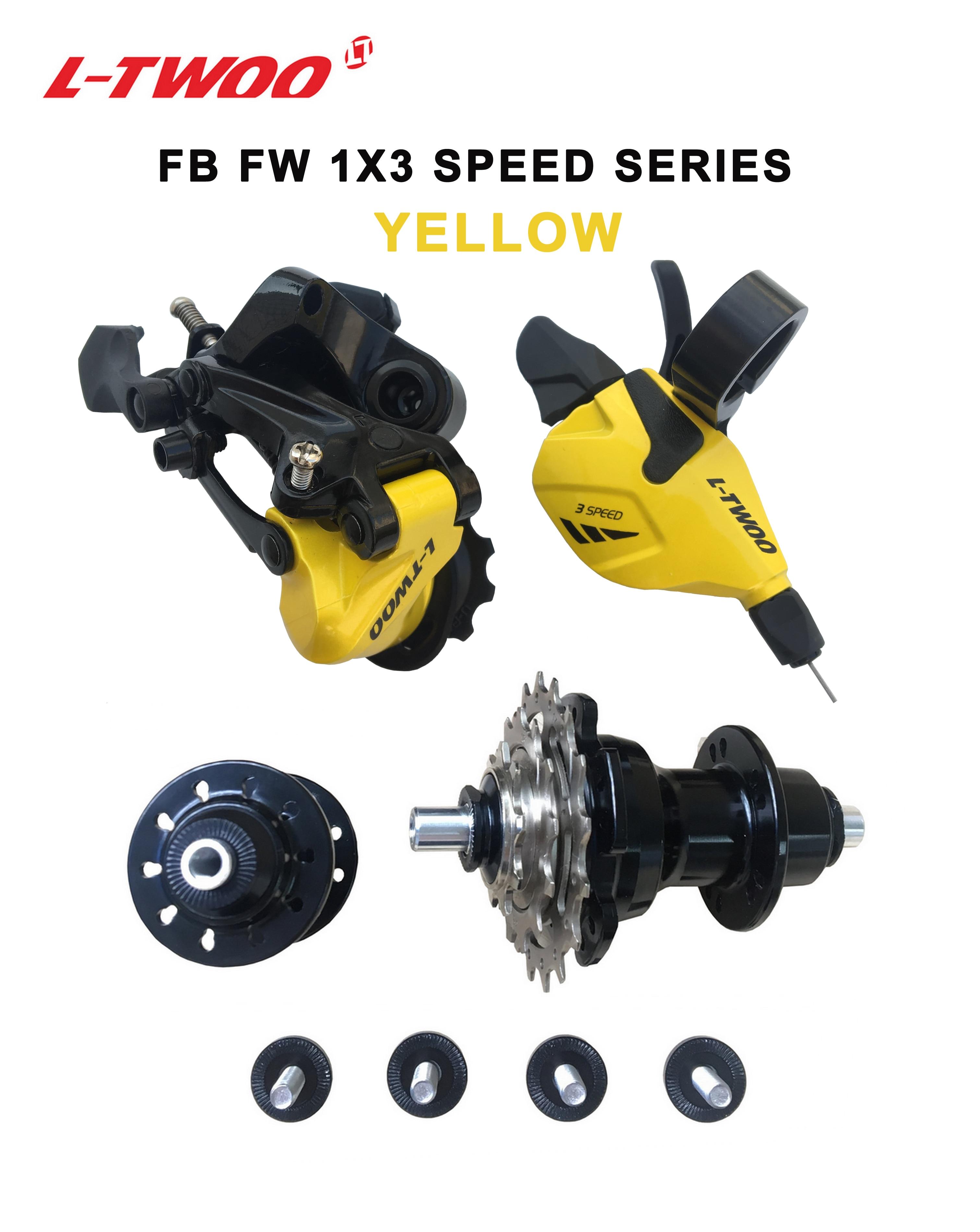 LTWOO Klapp Fahrrad Schaltwerk groupset, shift/RD/F & R Hub/CS 3 stücke enthalten, Schwarz und Grau farbe, licht gewicht, schnell