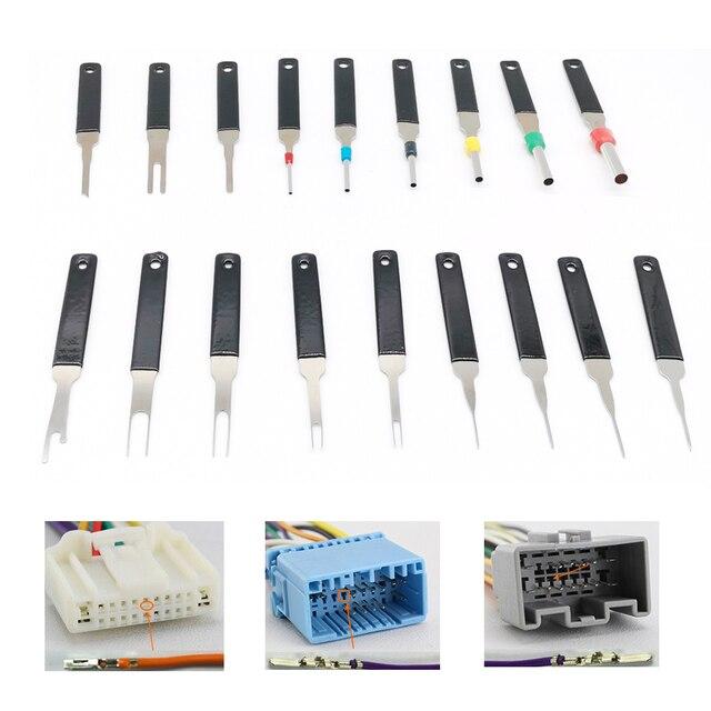 Kit de extracción de terminales de coche, pinza de presión para cables, Pin Extractor, herramientas de mango profesional, 18 Uds.