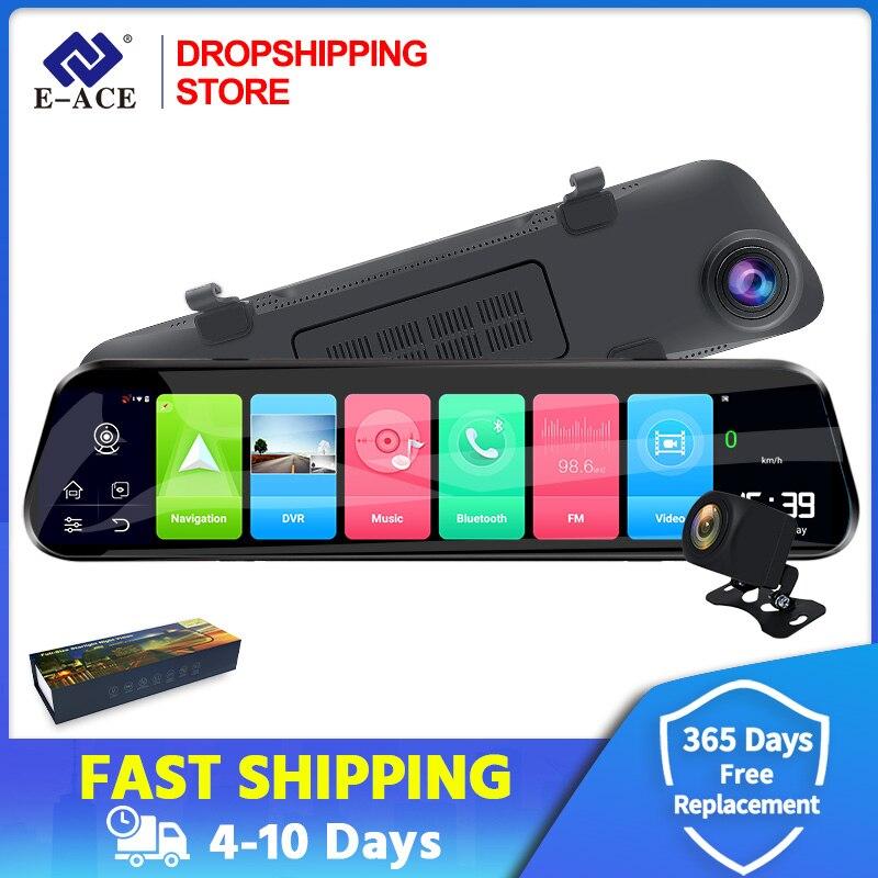 Дропшиппинг Автомобильный видеорегистратор 12 дюймов потоковое зеркало заднего вида 4G Android GPS навигация FHD 1080P ADAS Wifi видеорегистратор