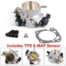 70mm gaz kelebeği gövdesi W/ TPS & haritası sensörü Honda Civic Si Acura B/D/F/H B16 B18 309-05-1050 gaz kelebeği gövdesi 309051050