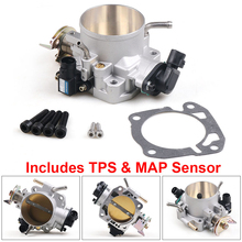 70mm Throttle Body W/ TPS & MAP Sensor For Honda Civic Si Acura B/D/F/H B16 B18 309-05-1050 Throttle Bodies 309051050