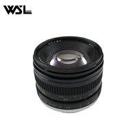 WesleyWSL Lens 50mm f1.2 EF Manual Focus Lens for Canon EOS 60D 70D 5D2 5D3 600d for sony E mount A7 A7RM2 A7RM3 A7RIII Cameras