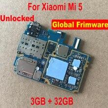 LTPro placa base de circuito para Xiaomi 5, Mi 5, Mi5, M5, 3GB + 32GB, Cable flexible, 100% Original, desbloqueado