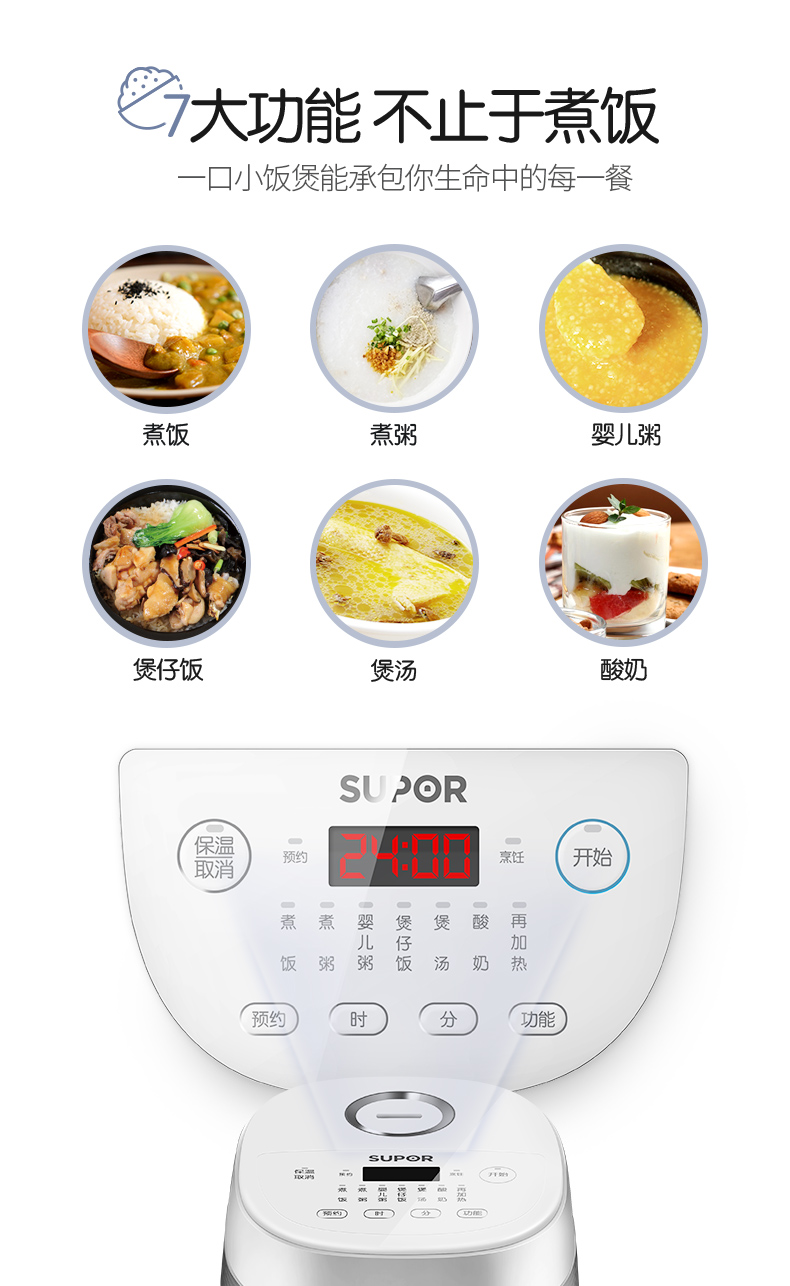 Rice Cooker Home Smart Mini Rice Cooker Single Small Dormitory 1-2 People 5