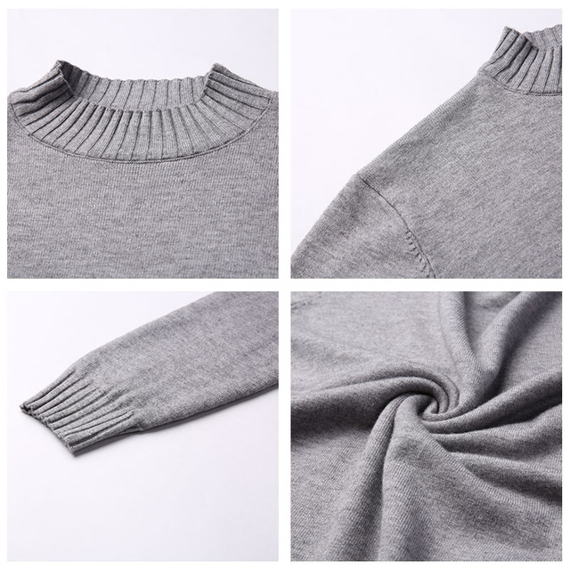Brand Sweater Casual Winter Thick Warm Sweaters Soft Knitwear 4