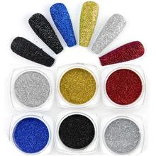 Silver Mirror Nail Glitter Powder Dazzling Black Shining Chrome Pigment Dust Paillettes Nail Art Decorations Eyeshadow Shine 1Pc