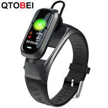 B9 chamada inteligente pulseira bluetooth fone de ouvido pulseira monitor de freqüência cardíaca fitness rastreador fone de ouvido banda inteligente falar para ios android