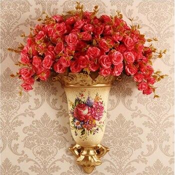 Backwall pendant resin vase, wall pot, basket, family living room background decorative handicraft pendant home decoration