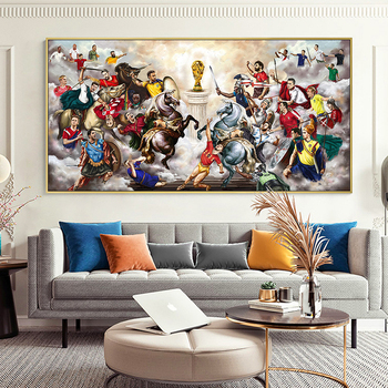 Abstract Football War Painting Printed on Canvas 4