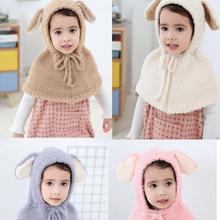Осенне-зимний детский кардиган Casaco, теплый флисовый плащ с капюшоном и ушками, верхняя одежда, мягкий теплый плащ с капюшоном, куртка для младенцев
