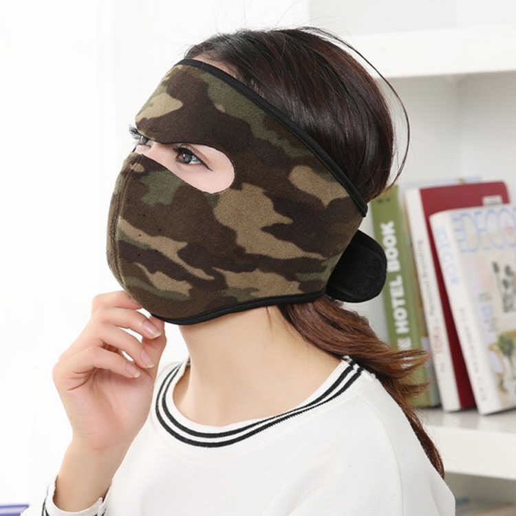 both men and women autumn and winter cycling mask heating thickened mask earmuffs integrated ear [both men and women] autumn and winter cycling mask heating thickened mask earmuffs integrated ear-protecting warm mask