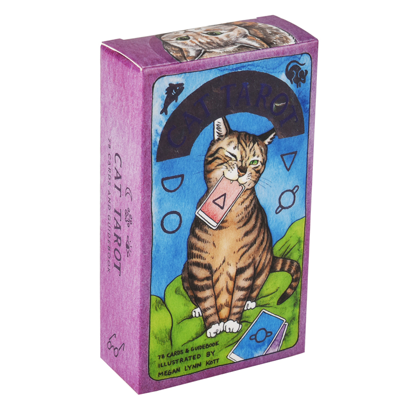 Cat Tarot Deck Tarot Cards Game Box English Tarot Deck Table Card Board Games Party Playing Cards Family Entertainment Games