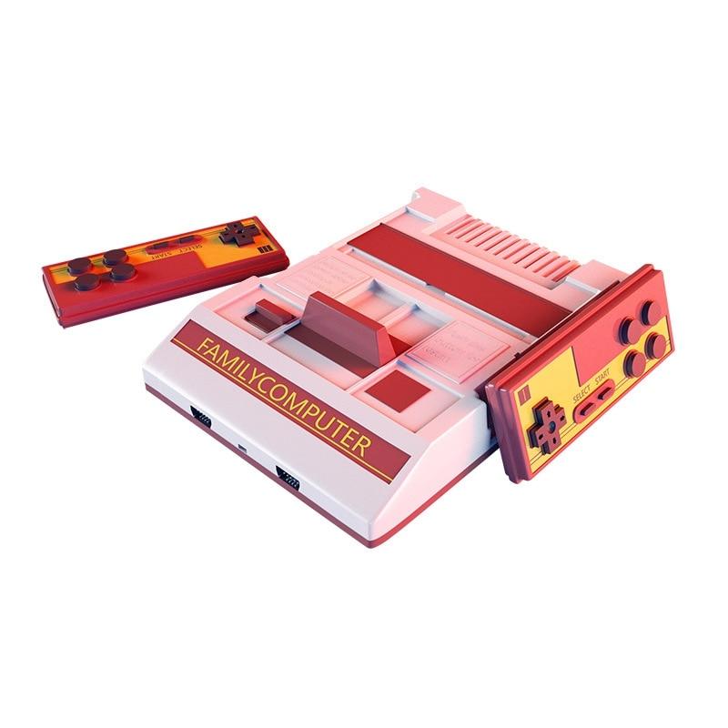 Rh-mini vermelho e branco máquina nostálgico retro casa console de jogos nse fc tv game console sem bateria