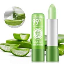 Bálsamo para los labios Aloe Vera humedad Natural de cambio de color con la temperatura lápiz labial Anti-envejecimiento protección Discolor labio bálsamo de labios importa TSLM2