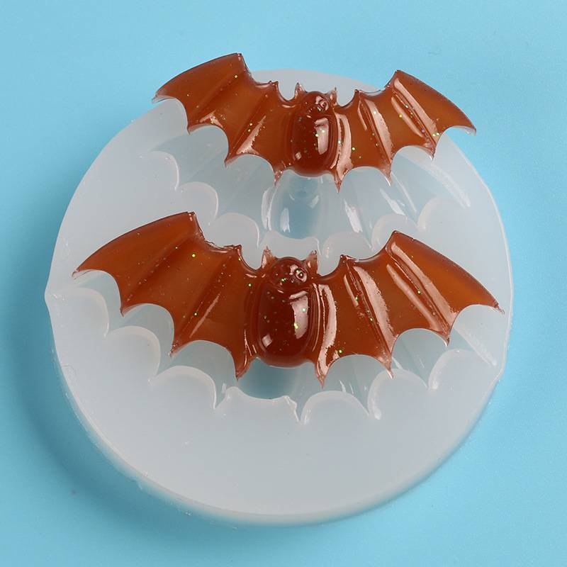 Halloween Molds Bats Silicone Molds Cupcake Topper DIY Baking Fondant Cake Decorating Tools Clay Candy Chocolate Gumpaste Moulds