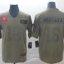Быстрая Сан-Франсиско Высокое качество Мужские 49ers Joe Монтана 16 Джерси