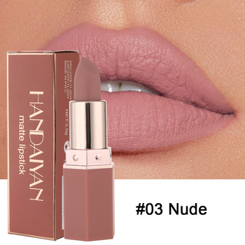6 Colors Makeup Matte Lipstick Waterproof Long Lasting Lip Stick Sexy Red Pink Velvet Nude Lipsticks Women Cosmetics Batom