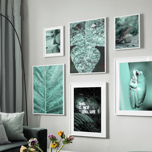 Wall Art Canvas Painting Green Frog Lizard Tropical Leaves Animal Nordic Posters And Prints Pictures For Living Room Decor