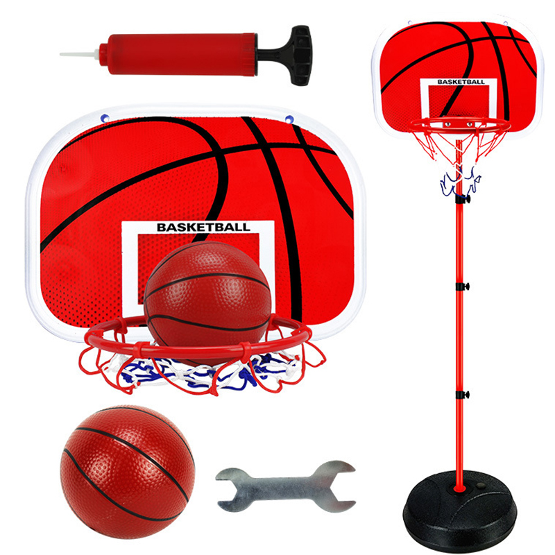 63-165cm Liftable Children's Basketball Rack Shooting Basket Indoor Household Shooting Basket Kindergarten Children's Toys Boy