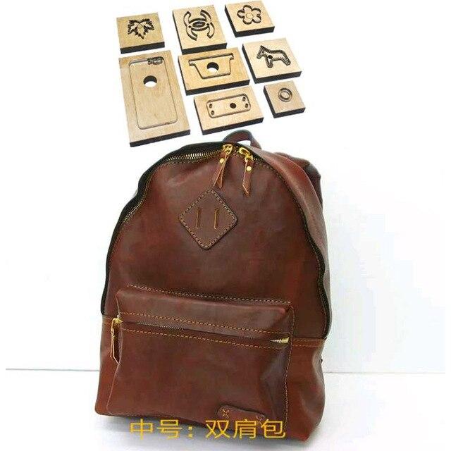 Moule de découpe du cuir, lame japonaise, sac à dos, nouvelle matrice de découpe en métal, moule de découpe du cuir, artisanat de poinçon Kraft, outil de poinçonnage 290x360x110mm