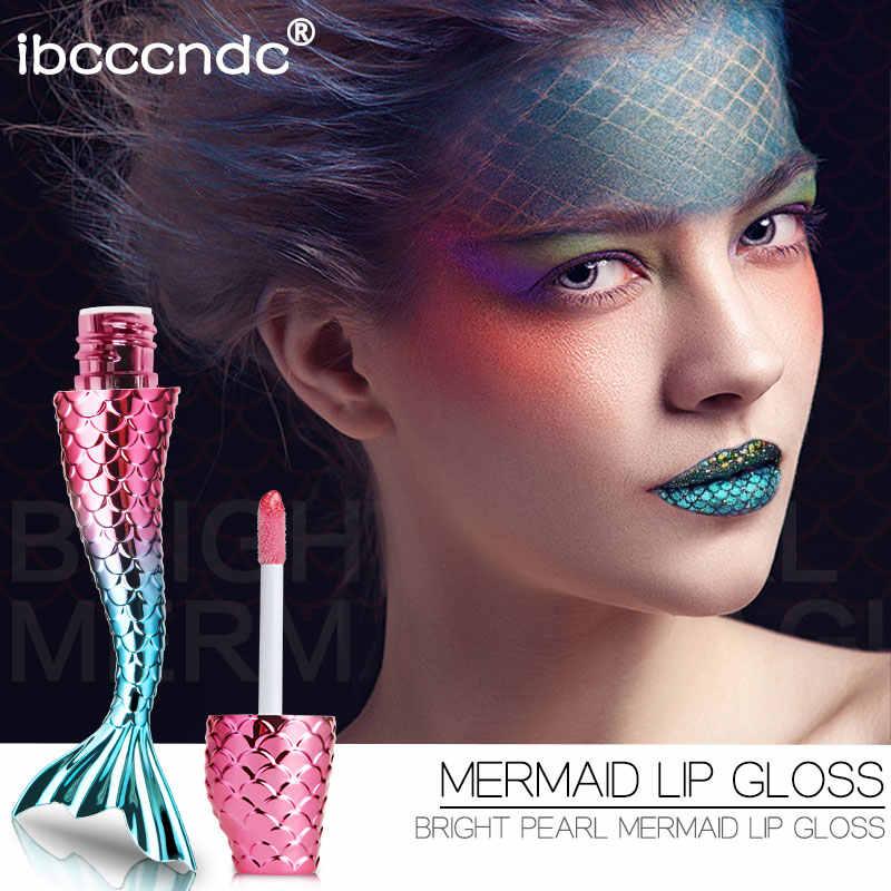 20 renk sıvı kristal kızdırma denizkızı dudak parlak lazer holografik dudak dövme ruj makyaj Mermaid Pigment Glitter dudak parlatıcısı