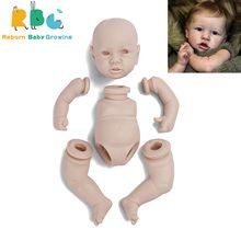 RBG 12 Inches Saskia Reborn Baby Lifelike Full Vinyl Body Unpainted Unfinished Parts DIY Blank Kits Gift LOL Dolls For Girl