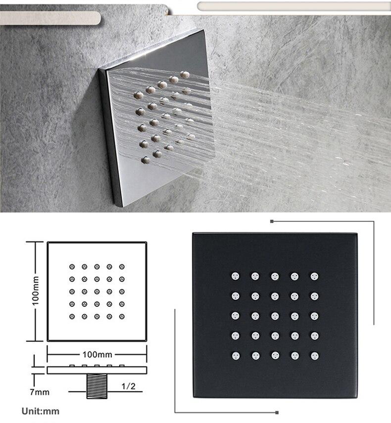 Hddd180d8352148ae9dc46e944ec1110cE M Boenn Music Shower System Rain ShowerHeads LED Shower Set Bathroom Faucet Thermostatic Valve Matte Black/Chrome Bath Mixer Tap