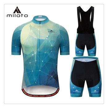 MILOTO-Ropa de Ciclismo para hombre hombres Ropa 2020 Ropa de ciclismo de...