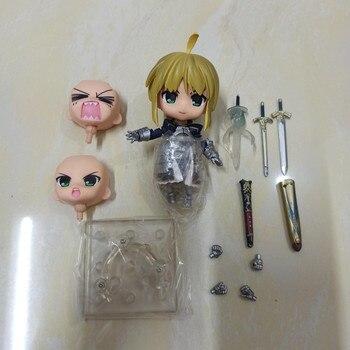 Anime destino noche estancia Saber PVC figura de acción de muñeca coleccionable en miniatura de juguete 10cm #121