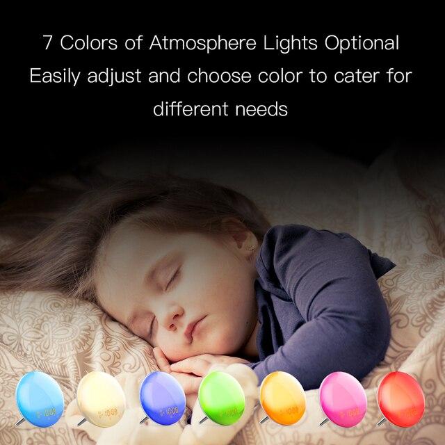 WiFi Smart Wake Up Light Workday Alarm Clock with 7 Colors Sunrise/Sunset Smart Life Tuya APP Works with Alexa Google Home 5