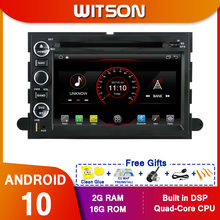 Leitor de dvd do carro de witson android 10 para ford f150 2gb ram bt wifi canbus(China)