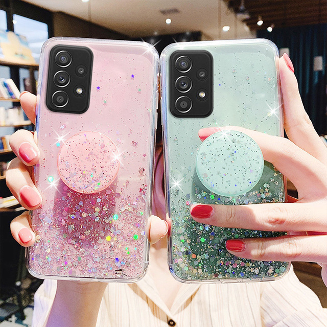 Bling Glitter Case For Samsung Galaxy A51 A52 Cases A50 A70 A71 A21s S20 Plus FE S21 Ultra S10 A32 A31 S9 A12 A72 A20e A41 Cover 4