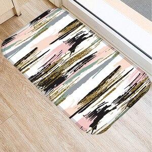 Image 3 - 40*60センチメートル幾何顔料非スリップスエードソフトカーペットドアマットキッチンリビングルームのフロアマットホームベッドルーム装飾フロアマット。