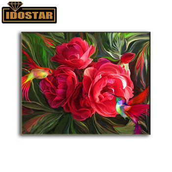 Full square/round 5D DIY diamond painting red rose flower diamond embroidered rhinestone mosaic home decoration gift image