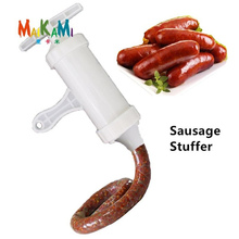 Ручная колбасная машина для наполнителя мяса колбасы, наполнитель для мяса колбасы с ручным управлением, оборудование для приготовления пищи, Набор насадок для воронки