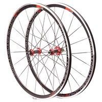 BMX Road Bike Bicycle Wheel 700C 30MM Rims V/C Brake bearing carbon fiber tube hub Aluminium Alloy bike Wheelset