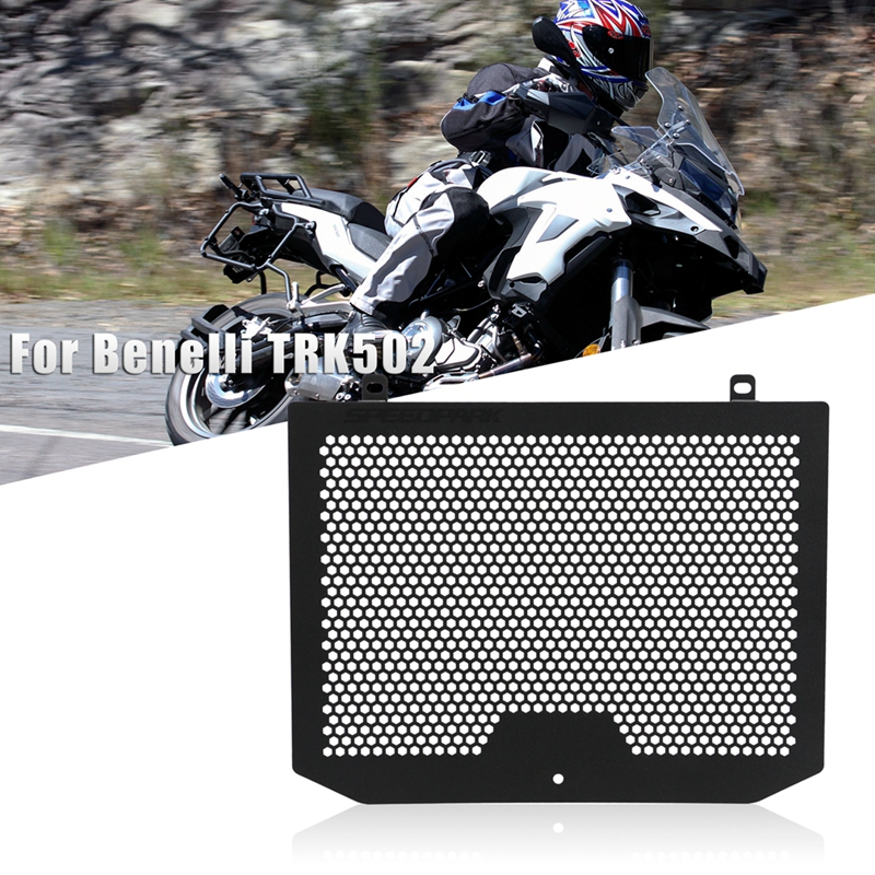 Free Shipping Motorcycle <font><b>Accessories</b></font> Radiator Black Grille Grille Cover Protective Cover <font><b>TRK</b></font> <font><b>502</b></font> Grille Cover For <font><b>Benelli</b></font> TRK502 image
